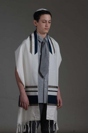 Eretz Men's Tallit Set-Item#T-708B
