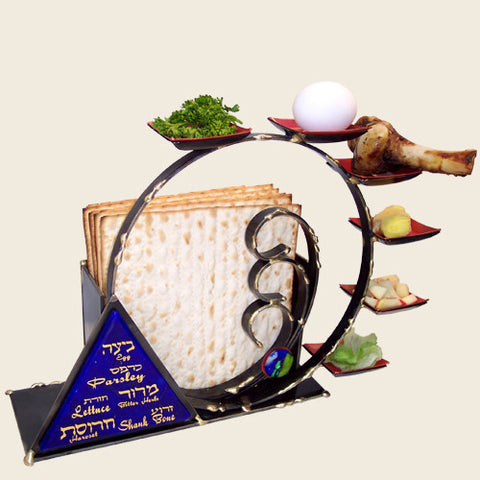 Gary Rosenthal Compact Combo Seder Plate-Item#SPM5