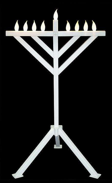 Indoor/Outdoor Menorah-Item#HSMENPVC-5F