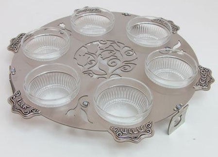 Lily Art-Seder Plate-Laser Cut-Stainless Steel-Item#LASEPLC14