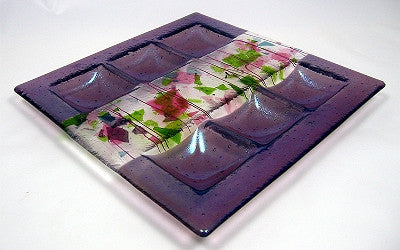 Art Glass-Amethyst Dreams-Seder Plate