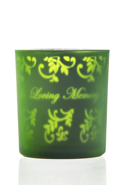 Memorial LED Battery-powered Glass Candle