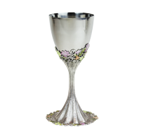 Quest-Freesia Kiddush Cup w/Saucer-Item#KDC38A