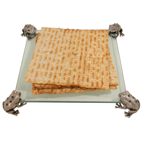 Quest-Four Frogs Matzah Tray-Item#TRAY83A