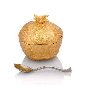 Michael Aram - Pomegranate Mini Pot With Spoon - Item # 175226