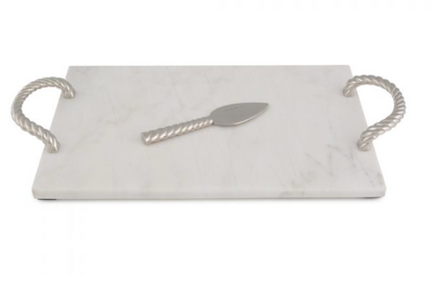 Michael Aram Twist White Marble Challah Board-Item#144572