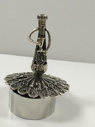Sterling Silver Filigree Dreidel-Kiddush Cup-Item#SSFD3