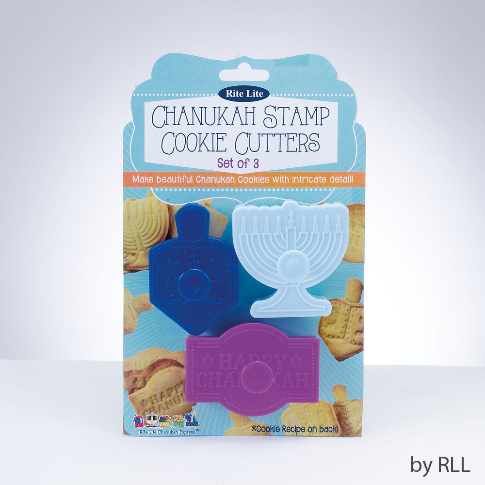 Chanukah Stamp Cookie Cutters
