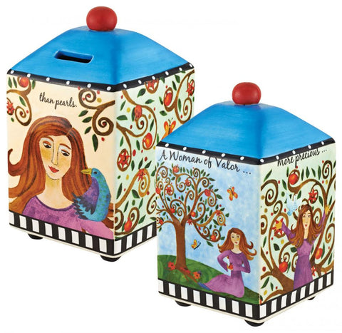 Woman of Valor Tzeduckah Box-Item#10087