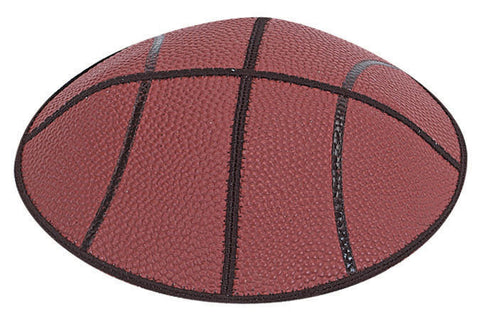 Basketball Leather Yarmulke-Item#SP3