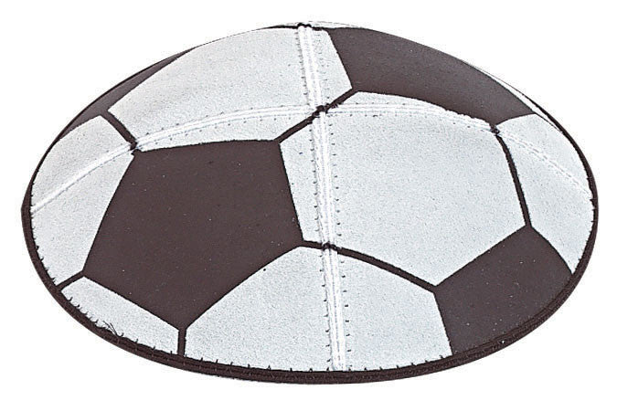 Soccer Leather Yarmulke-Item#SP2