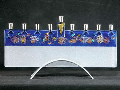 Beames Celestial Blue Menorah-Item#JM43
