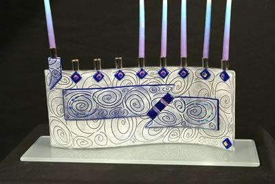 Beames Menorah-Vortex Cobalt Blue
