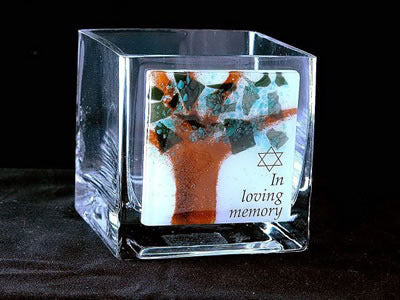Beames Yartzeit Candle Holder-Tree of Life-Item#YZC1