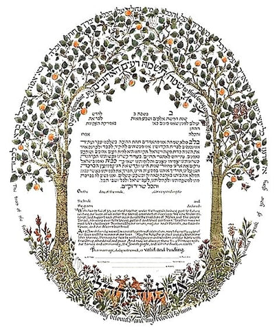 Betsy Teutsch Ketubah-Trees of the Forest-Gold