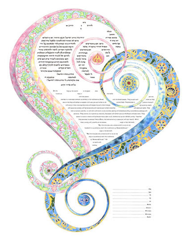 Amy Fagin Ketubah- One Heart-Second Edition