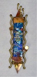 Wedding Glass Mezuzah