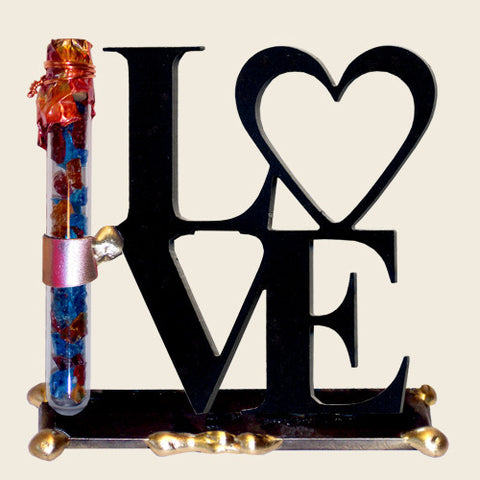 "Gary Rosenthal Lasercut ""LOVE"" in English with Shards Tube-Item#LOVE-Item#LOVES"