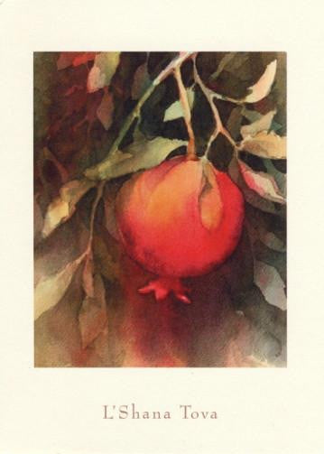 The Ripened Pomegranate  New Years Card