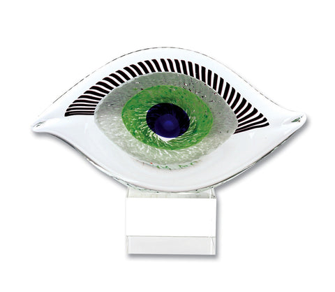 Evil Eye Glass Sculpture