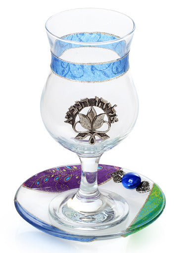 Lily Art- Elijah's Cup-purple & blue-Item#507789-15