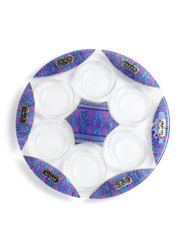 Lily Art-Seder Plate-purple & blue-Item#301666-4