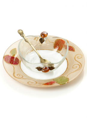 Lily Art-Honey dish w/small plate-Item#- 507575-6
