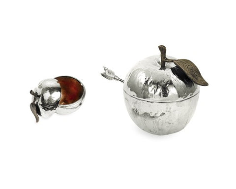 Michael Aram Apple Honey Pot w/Spoon -NP -Item#110780