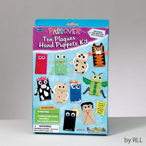 "Passover ""Ten Plagues"" Puppet Kit-Item#TYKP-BAGS"