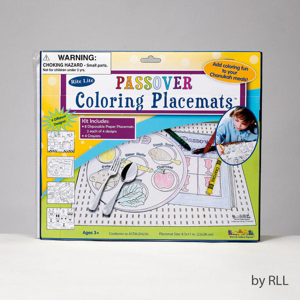 Passover Coloring Placemat Kit-Item#TYKP-MAT-2