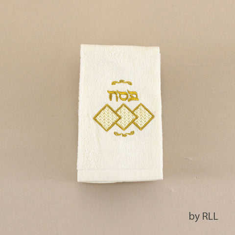 """Passover Celebrations"" Fingertip Towel w/Square Matzah-Item#TXP-FT-S"