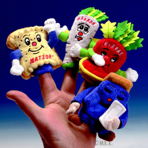 "Passover ""Four Questions"" Finger Puppets-Set of 4-Item#TYPP-PUP-PAS"