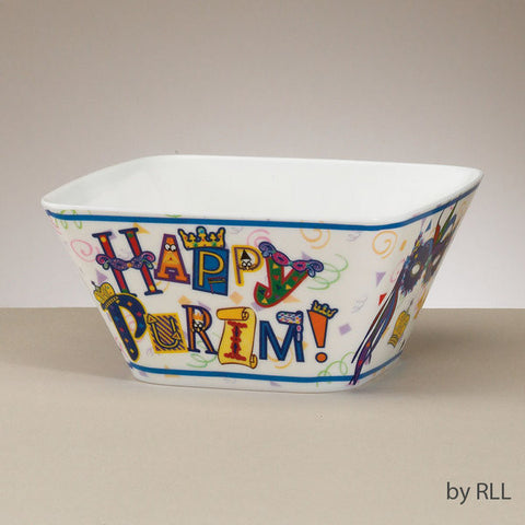 "Purim-""Happy Purim"" Melamine Bowl-Item#TYP-13154"
