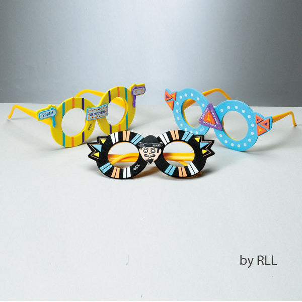Purim-Purim Glasses with Foam Decorations-Item#TYPA-SG-1