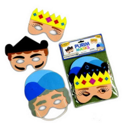 Purim-Set of 3 Purim Masks-Item#TYP-13179
