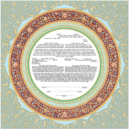 Mickie Ketubah-Ring of Joy