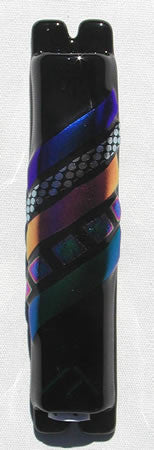 Sandi Katz Mezuzah-Bold Black w/Touch of Brilliance-Item#SKM52