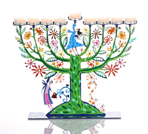 The Family Tree Chanukah Menorah by Tzuki Designs