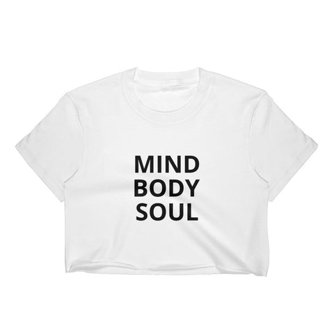 MIND BODY SOUL Crop Top T-Shirt