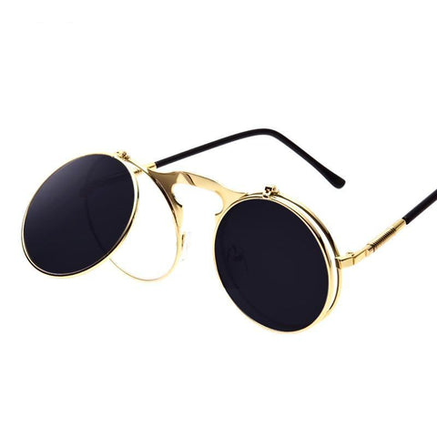 Vintage Steampunk Metal Coating  Sunglasses