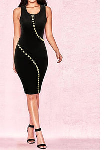 Top Quality Cocktail Black Bandage Dress