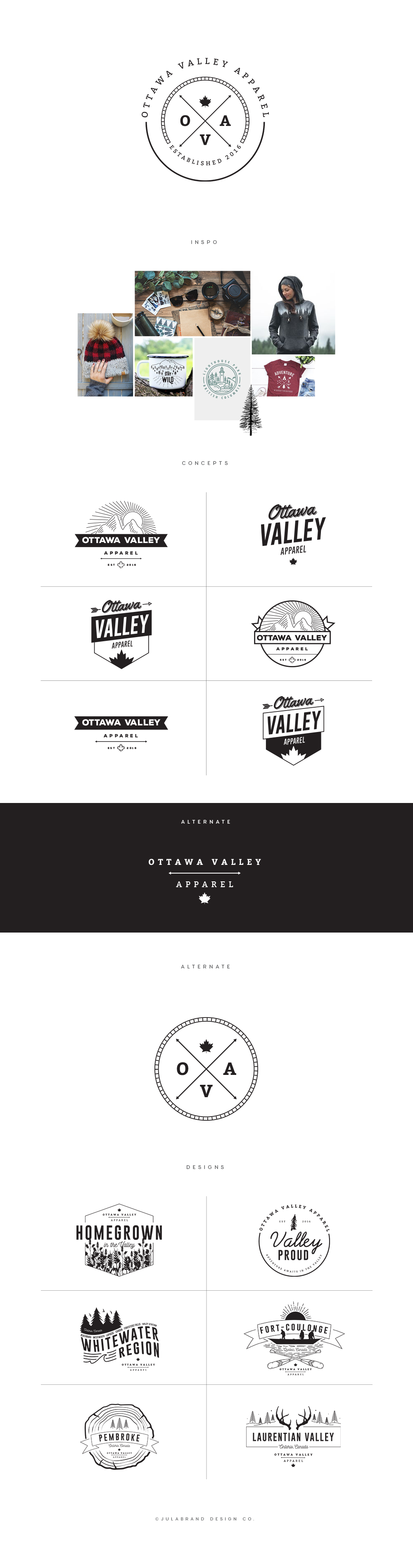 Contemporary brand map board with adventure outdoors apparel logo design