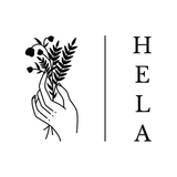 black hand and floral spa logo for hela beauty and medical in pembroke
