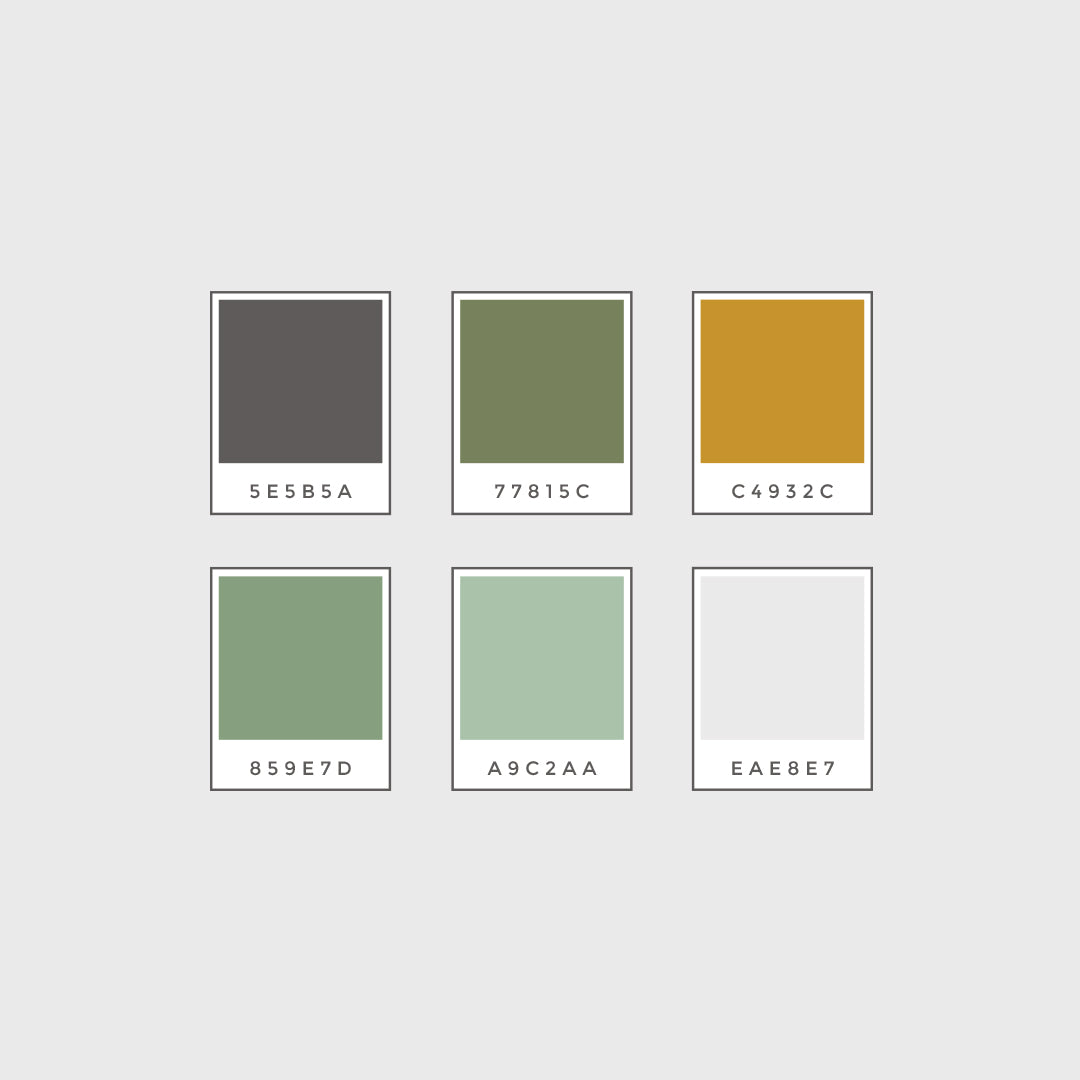 color palette for photography logo brand identity