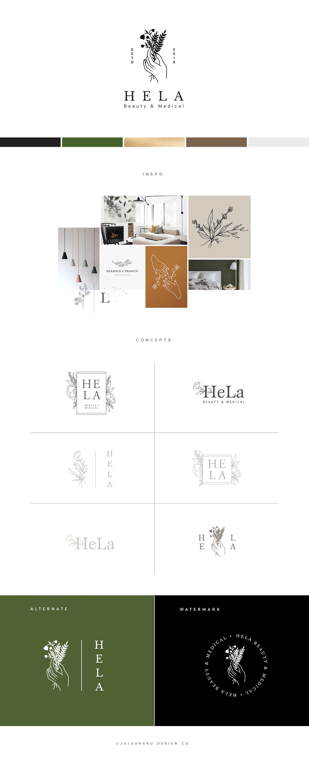 Brand map for modern beauty and medical logo design