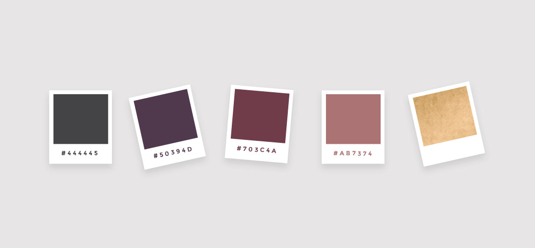 Colour palette for Jaimie Jolly brand identity