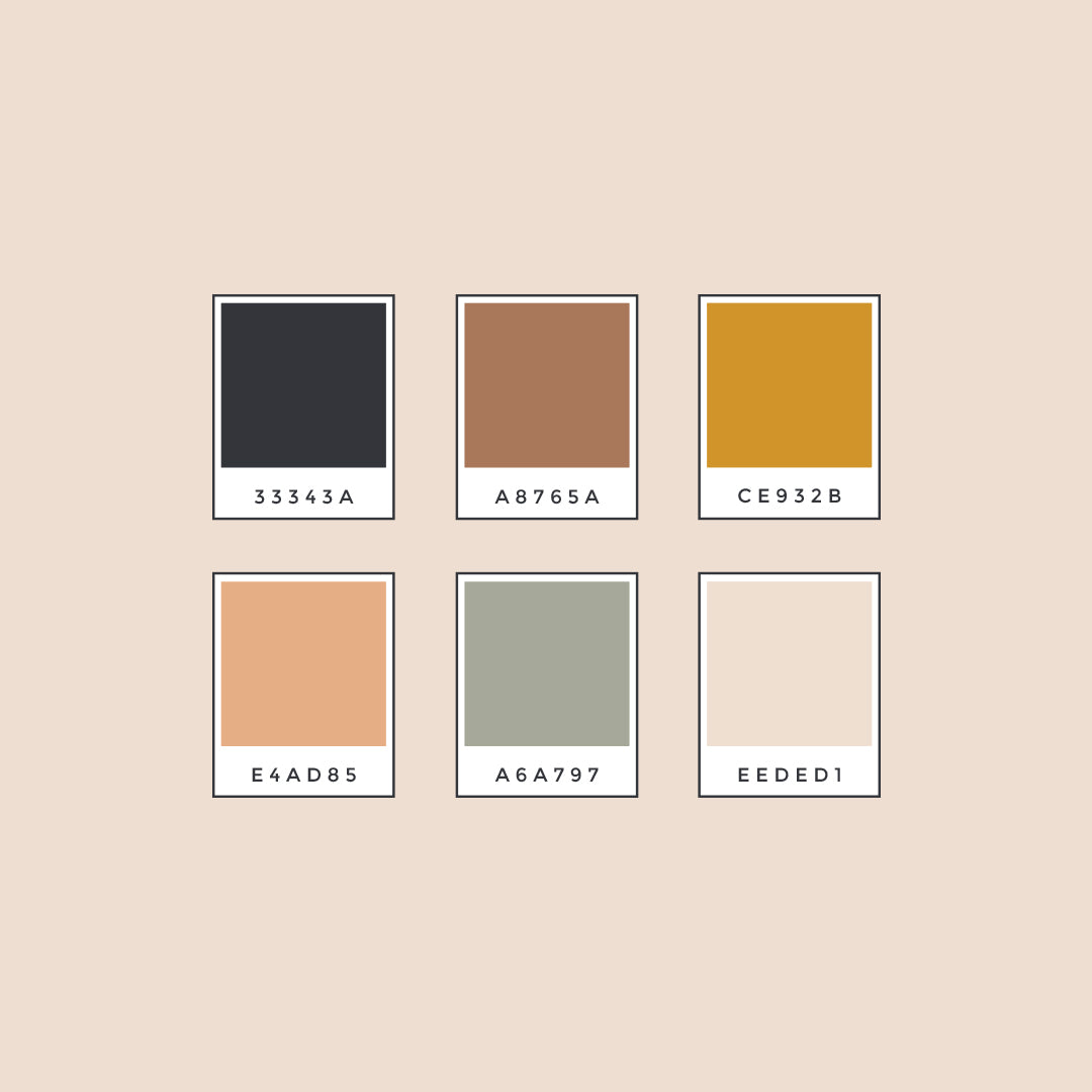color palette for energy healing brand identity