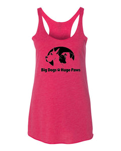 Big Dogs Huge Paws - Women's Racerback Tank