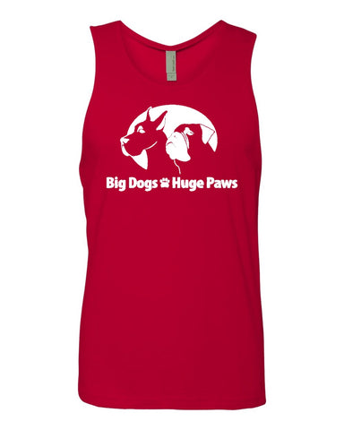 Big Dogs Huge Paws - Unisex Cotton Tank