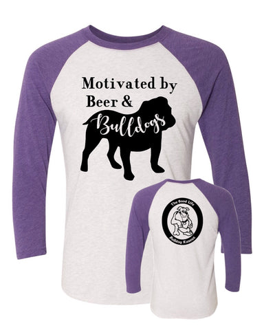 Beer and Bulldogs - TGLBR Logo- Baseball Tee